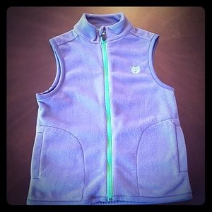 Fleece Chaps Vest - Grey and Lime Green
